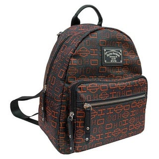 """Harley-Davidson Womens Silky Gray Backpack w/ Adjustable Straps SN5129S-ORGBLK - 9.5"""" x 12"""" x 5.5"""""""