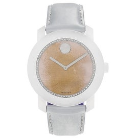 Movado Women's 'Bold' 3600266 Watercolor Dial Patent Leather Strap