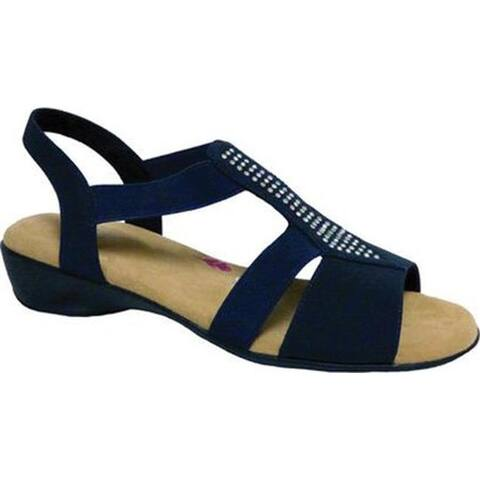 b9cb8a1b2b79 Ros Hommerson Women s Mellow Sandal Navy Fabric