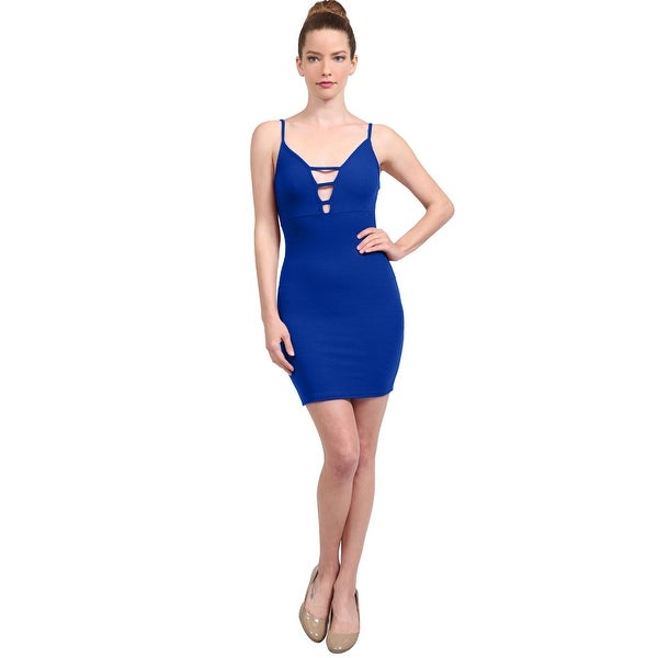 023f846b4e346 Shop NE PEOPLE Women's Ribbed Cami Ladder Cut Out Sexy Bodycon Dress ...