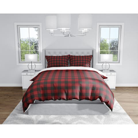 BUFFALO RED Duvet Cover By Kavka Designs