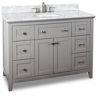 Jeffrey Alexander VAN102-48-T 48 Inch Single Free Standing Vanity Set with Hardwood Cabinet