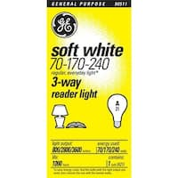 Ge Lighting 3 Way Incandescent Light Bulb Reader Soft White 15846