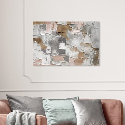 Wynwood Studio 'Mornings in Costa Mesa Grey' Abstract Wall Art Canvas Print Textures - Gray, White