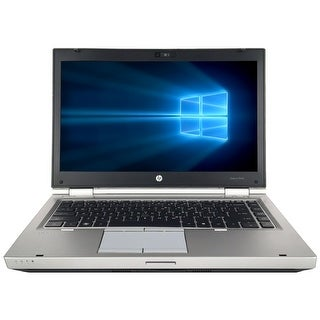 "Refurbished HP EliteBook 8460P 14"" Laptop Intel Core i5-2520M 2.5G 4G DDR3 320G DVD Win 10 Pro 1 Year Warranty - Silver"