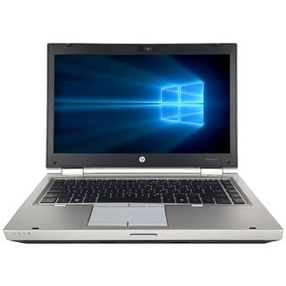 "Refurbished HP EliteBook 8460P 14"" Laptop Intel Core i5-2520M 2.5G 8G DDR3 320G DVD Win 10 Pro 1 Year Warranty - Silver"