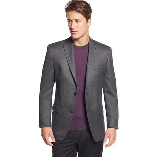 Michael Kors Mens Classic Fit Charcoal Herringbone Sportcoat 38 Regular 38R Blazer
