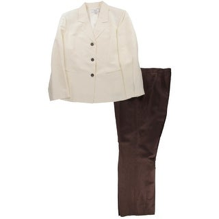 Le Suit Womens Plus Pant Suit Colorblock 2PC - 18