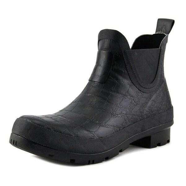 Joules U-Crockingtnbob Women Round Toe Synthetic Black Rain Boot