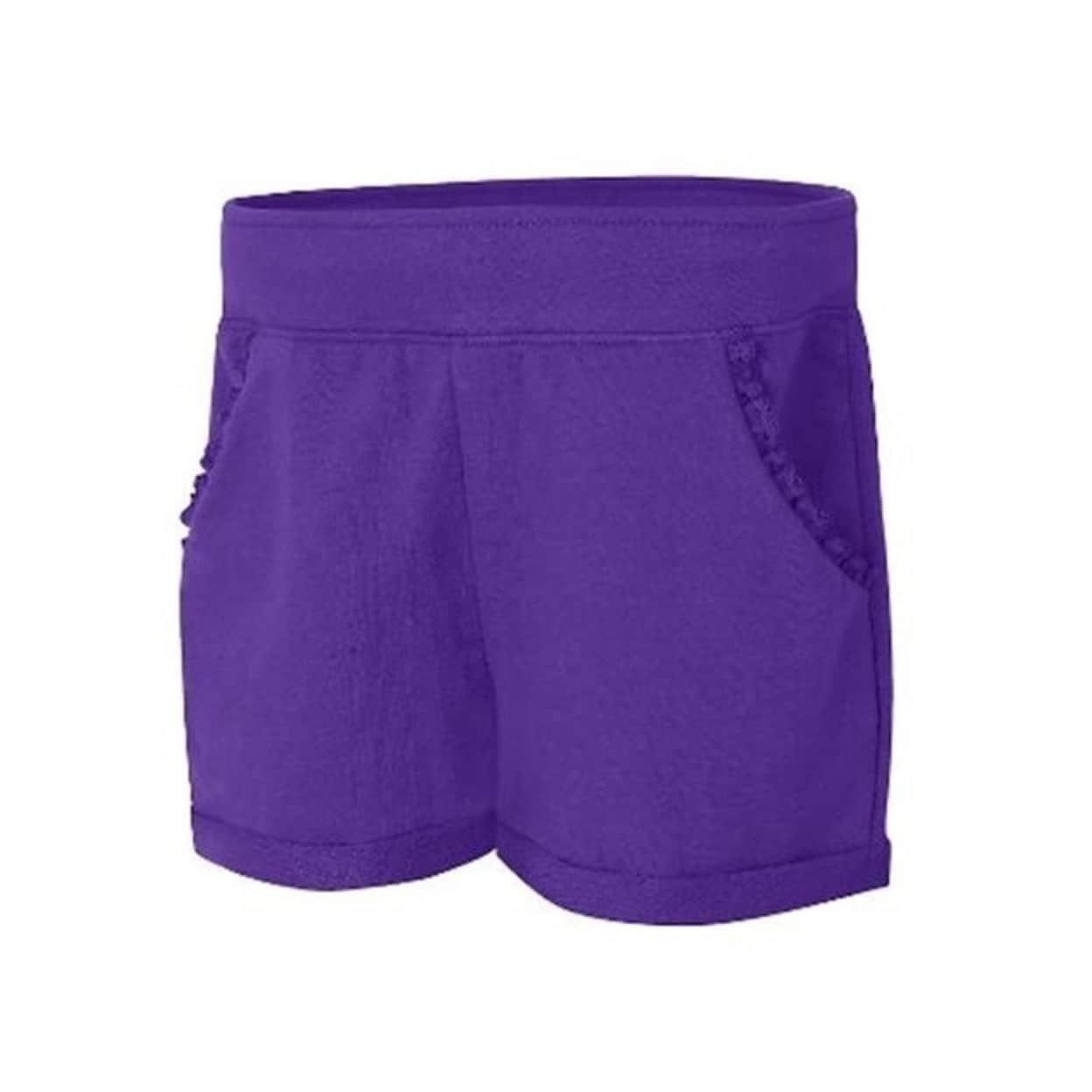 Hanes Little Girls Ruffle Pocket Short