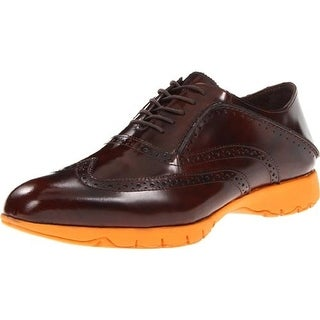 Hush Puppies Mens Five-Brogue Patent Wiptip Oxfords