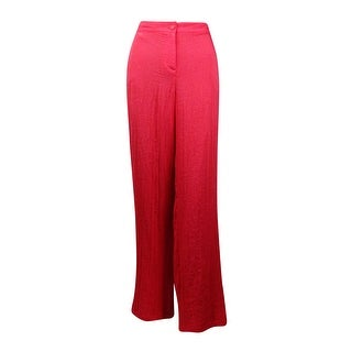 Charter Club Women's Classic Fit Straight Crinkled Pants