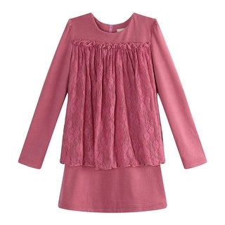 Richie House Girls Purple Decorated Lace Layer Top 8