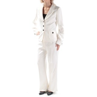 Womens Ivory Evening Straight leg Pant Suit Size 6