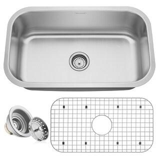 """30"""" x 18"""" x 9"""" 16-Gauge Stainless Steel Kitchen Single Sink - Miligore - 30""""x18""""x9"""""""
