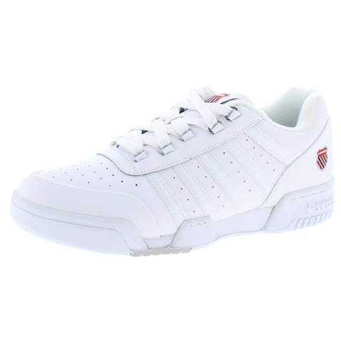 K-Swiss Mens Gstaad Walking Shoes Leather Lace-Up - White