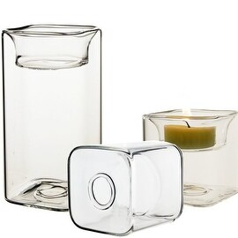 "CYS® Cube Vase or Tealight Votive/Candle Holders-2 ways use (6 PCS) (H-4.75"")"