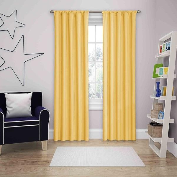 Eclipse Kids Microfiber Blackout Single Curtain Panel. Opens flyout.