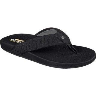 Skechers Men's Relaxed Fit Pelem Emiro Flip-Flop Black