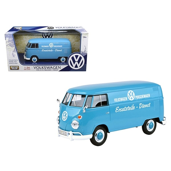 Volkswagen Type 2 T1 Delivery Truck Blue Porsche Wagen 1 24 Cast Model Car By Motormax Free Shipping On Orders Over 45 15626293