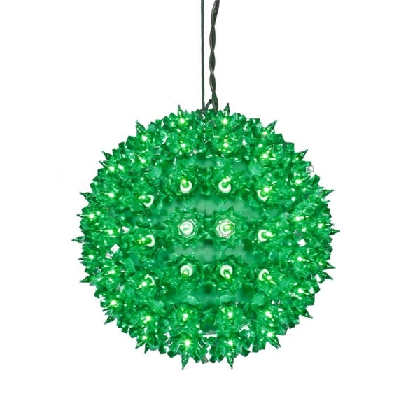 "7.5"" Green Lighted Twinkling Starlight Sphere Christmas Decoration"