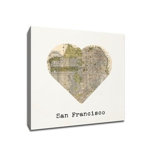 San Francisco - City Map to My Heart - 12x12 Gallery Wrapped Canvas Wall Art