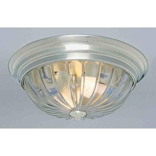 "Volume Lighting V7810 1 Light 11"" Flush Mount Ceiling Fixture with Clear Melon R"