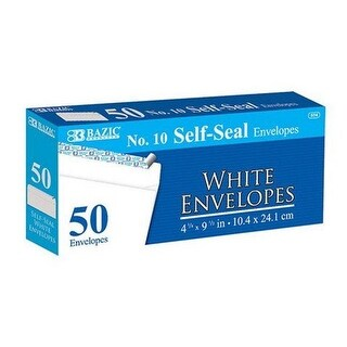 Bazic 574 #10 Self-Seal White Envelope (50/Pack) Case of 24