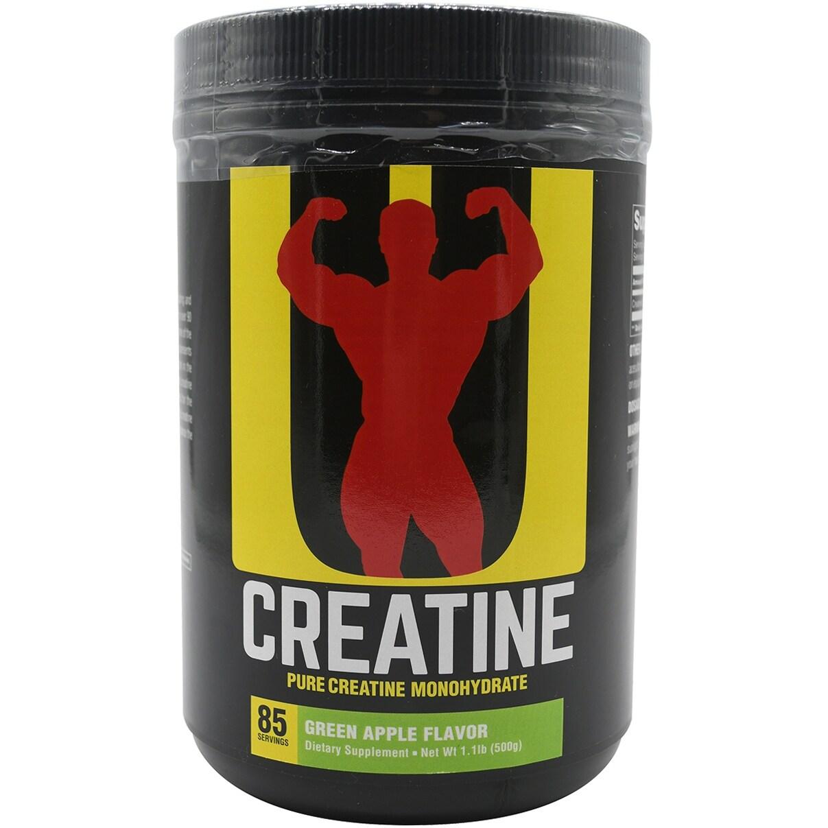 Shop Universal Nutrition Creatine Powder Supplement 85 Servings Green Apple 85 Servings Overstock 31107220