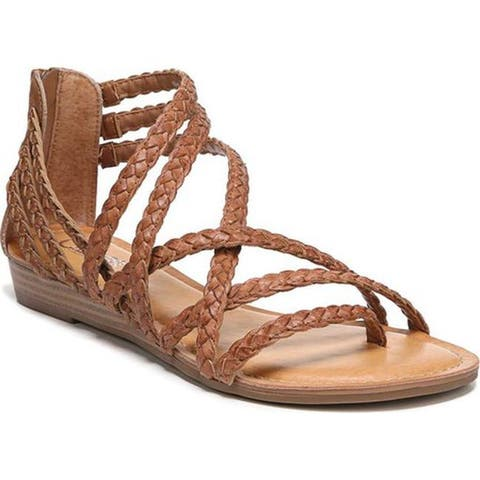 Carlos by Carlos Santana Women's Amara 2 Strappy Sandal Tawny Tan Leather