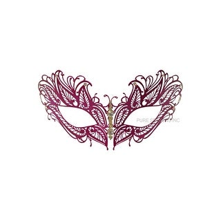 Pure Seasons Mystique Winged Venetian Mask (Hot Pink) - Pink