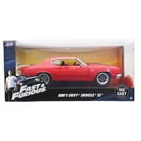 Fast & Furious 1:24 Diecast Vehicle: Dom's Chevy Chevelle SS, Red - Multi