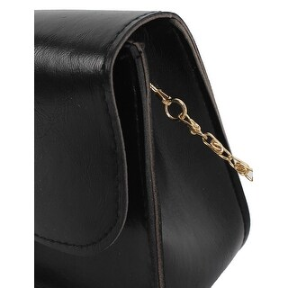 Women Newini Cute Hasp Chain Crossbody Shoulderessenger Bag - Black