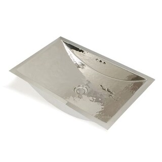 """WS Bath Collections Cotton 0805 Metal Collection 15"""" Hand Hammered Drop In / Undermount Bathroom Sink with Overflow"""