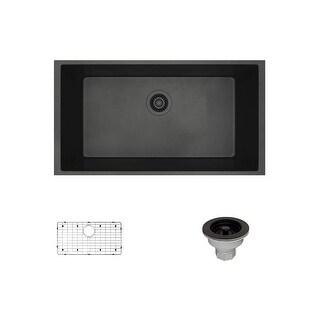 "Rene by Elkay R3-1006-CGS Rene 32-5/8"" Single Basin Composite Granite Kitchen Sink - Basin Rack and Basket Strainer Included"