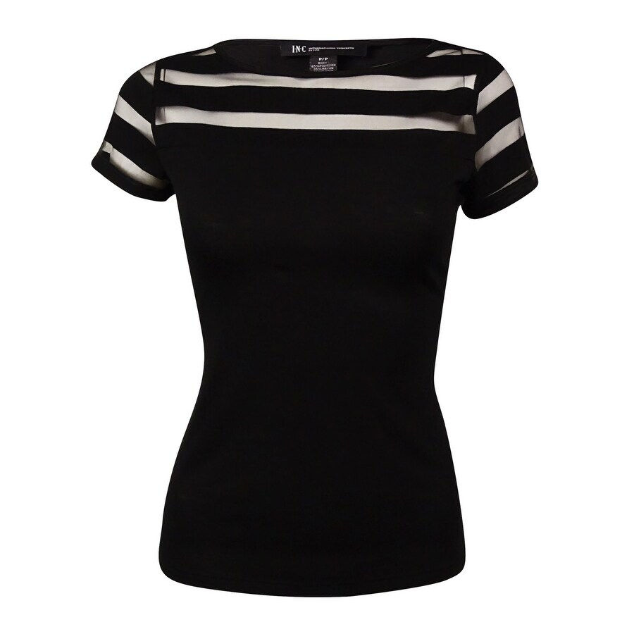 INC International Concepts Womens Illusion Stripe T-Shirt
