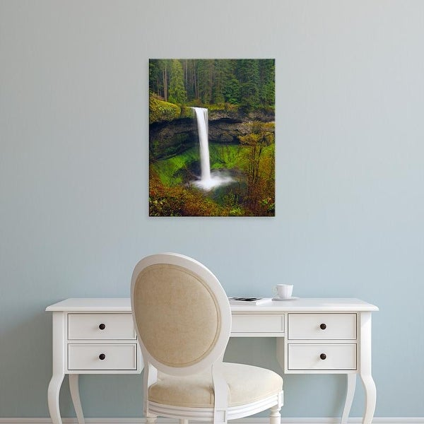 Easy Art Prints Michel Hersen's 'South Falls In Spring: Silver Falls State Park' Premium Canvas Art