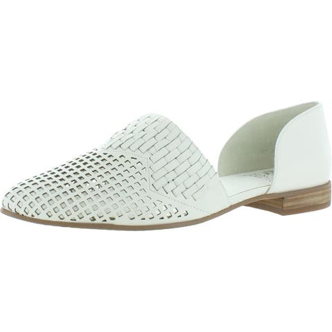 Vince Camuto Womens Reshila D'Orsay Leather Slip On - Pure Alicante Sheep