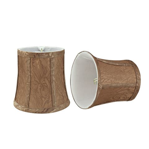 """Aspen Creative Bell Chandelier Clip-On Lamp Shade (2 Pack), Brown, (4"""" x 5"""" x 5"""")"""