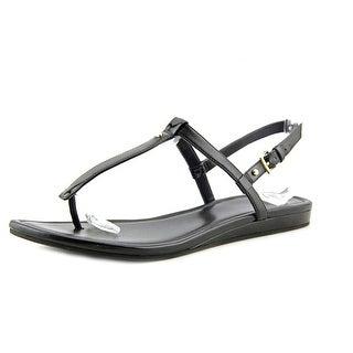 Cole Haan Boardwalk Thong Women Open Toe Patent Leather Black Thong Sandal