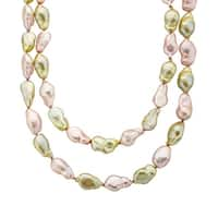 Honora 36-Inch Baroque Freshwater Pearl Strand with Sterling Silver Clasp