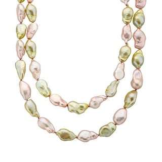 Honora 36-Inch Baroque Freshwater Pearl Strand with Sterling Silver Clasp - multi-color