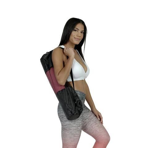 Stylish Yoga Mat Bag - Breathable and Portable Sports Bag with Adjustable Straps