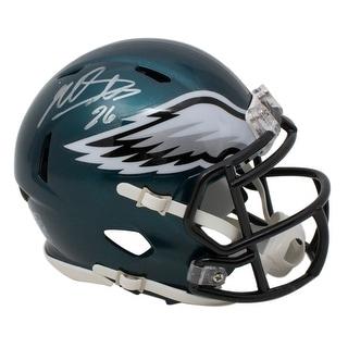 Miles Sanders Signed Philadelphia Eagles Mini Speed Replica Helmet JSA