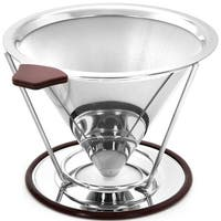 Image Paperless Pour Over Coffee Dripper Coffee Filter Stainless Steel for 1-4 Cups