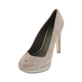 Diesel Womens Melrose Ashly Leather Metallic Platform Heels