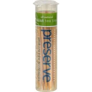 Preserve Flavored Toothpicks Mint Tea Tree - 35 Pieces - Case of 24