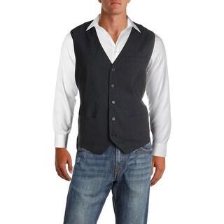 Perry Ellis Mens Vest Pinstriped Slim-Fit - XL