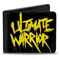 Ultimate Warrior Painted Black Yellow Bi Fold Wallet - One Size Fits most
