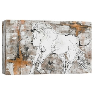 "PTM Images 9-101693  PTM Canvas Collection 8"" x 10"" - ""Contour Horse 5"" Giclee Horses Art Print on Canvas"